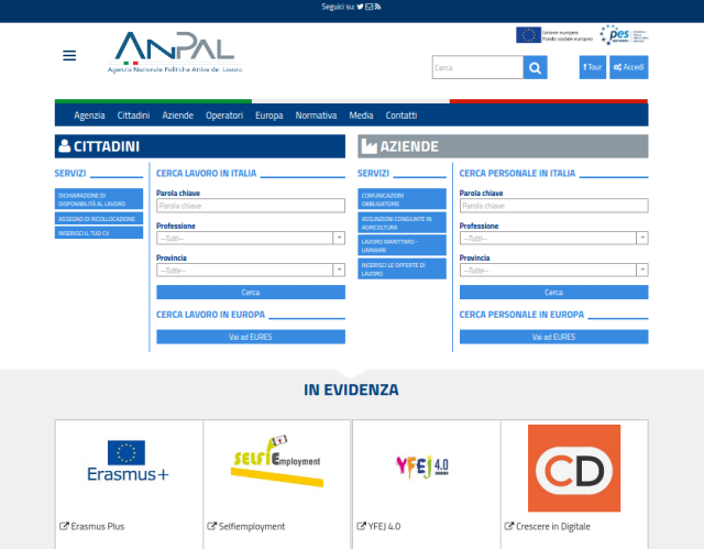 ANPAL, online il portale dedicato alle politiche attive