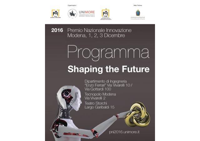 Al via, a Modena, il Premio Nazionale per l'Innovazione 2016