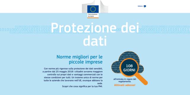 Due siti della Commissione europea per spiegare il GDPR