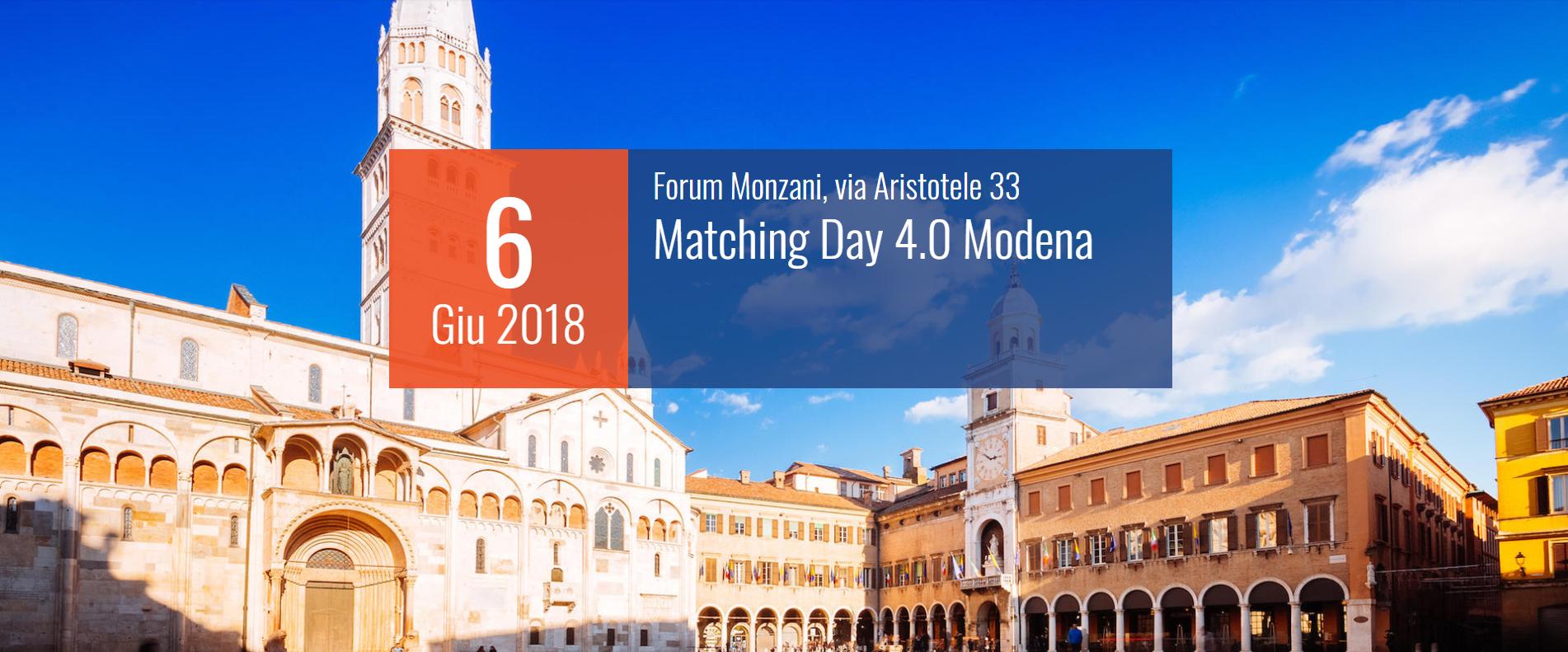 Arriva a Modena il Matching Day 4.0