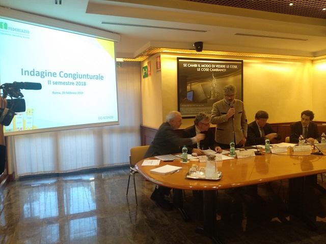 Federlazio, indagine congiunturale: Lazio in sensibile rallentamento, incertezza anche sul futuro