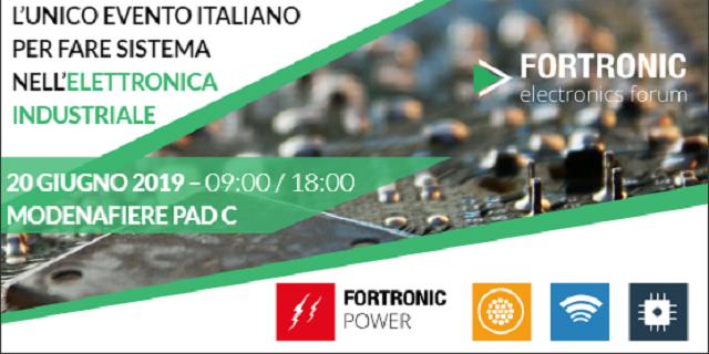 FORTRONIC POWER 2019: il prossimo 20 giugno a Modena occhi puntati sull'elettronica di potenza