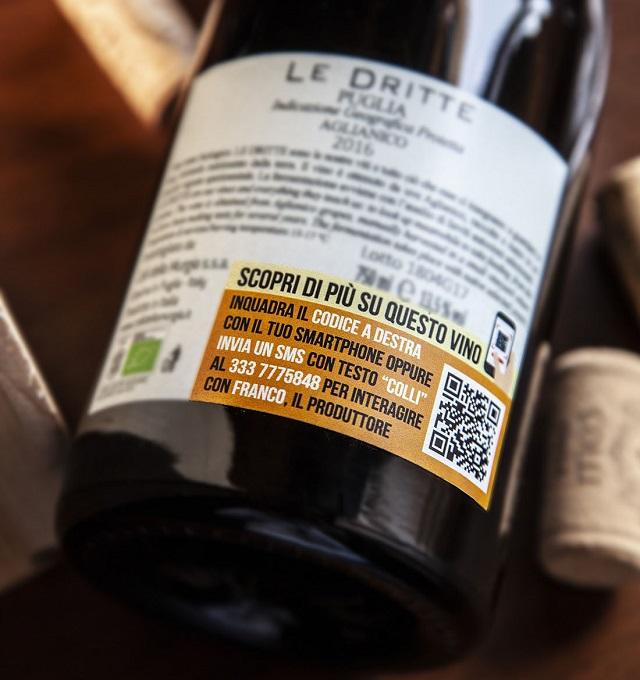 """Nasce in Puglia il primo """"vino che parla"""" e si racconta attraverso l'intelligenza artificiale, interrogando l'etichetta"""
