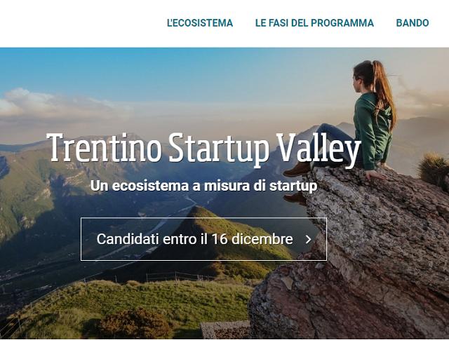 Al via Trentino Startup Valley, programma di formazione imprenditoriale
