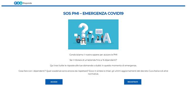 F2A risponde: online il sito gratuito che risponde ai dubbi delle PMI sui decreti per l'emergenza Covid-19