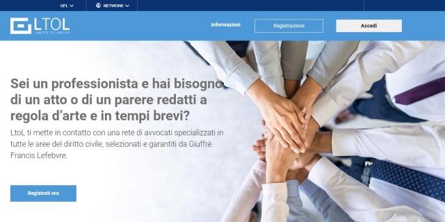 Nasce LtoL –Lawyer toLawyer la prima piattaforma digitale in Italia per lo scambio di atti e pareri legali tra professionisti