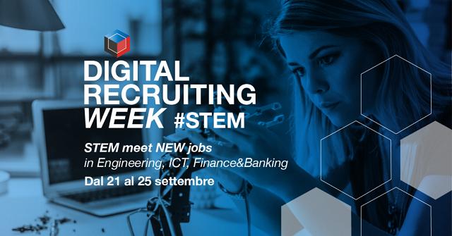 Dal 21 al 25 settembre torna la Digital Recruiting Week in versione speciale: edizione STEM!