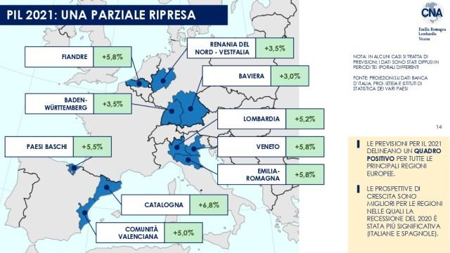 Ripresa 2021 e impatto del PNRR sulla crescita: i numeri di Emilia-Romagna, Lombardia e Veneto