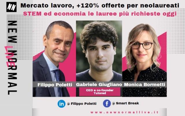 Giugliano, CEO di Tutored al talk live di LinkedIn New Normal Live: «+120% offerte di lavoro per neolaureati in Italia: una su due riguarda profili STEM ed economia»